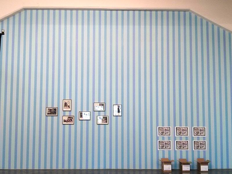 Papier Peint Moulinsart créé en 2002 - Photo © La Veilleuse Graphique