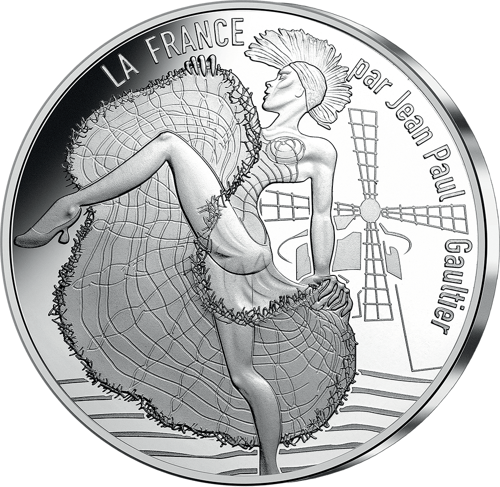 Pièce de 10 € pour la Monnaie de Paris signée Jean Paul Gautier - 2017