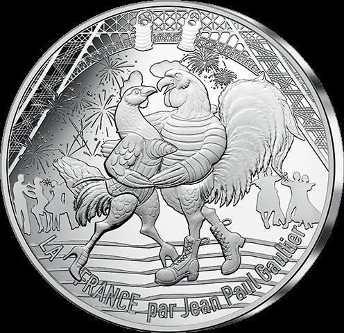 Pièce de 50 € pour la Monnaie de Paris signée Jean Paul Gautier - 2017