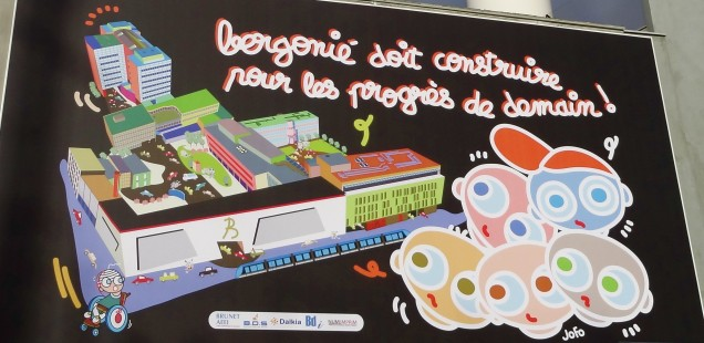 visuel créé par Jofo pour les travaux du quartier Bergonié à Bordeaux