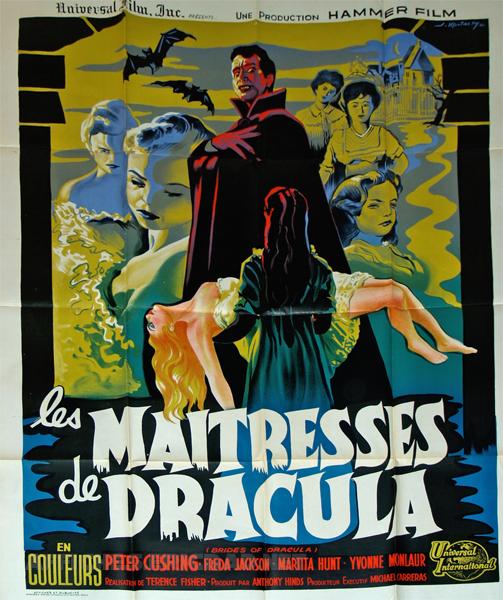 Les Maîtresse de Dracula - illustration de Joseph Koutachy - 1960