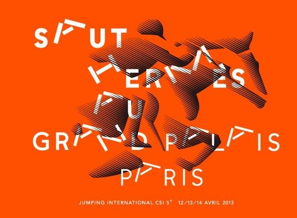 Affiche 2013 du Saut d'Hemes au Grand Palais - © philippe Apeloïg