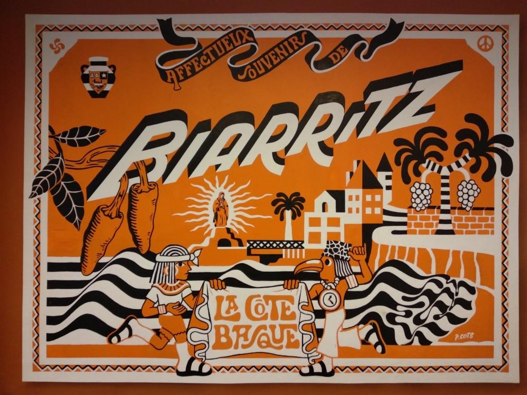 fresque hommage à la côte basque