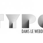 Galerie de 10 webdesign basé sur un concept typographique