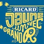 """Les affiches pub typographiques de Ricard """"Jaune avec un grand R"""""""