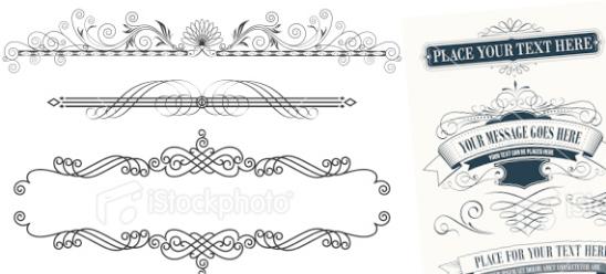 Des arabesques vectorielles pour illustrer vos titrages photo de posts de blog [offertes par IstockPhoto ]