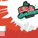 Page d'accueil de l'interface de notre jeu Lavadventure produit au cours de la GameJam organisée par Flat 226