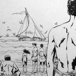 Cases extraites de la BD de Sylvain Savoia sur les nauvragés de Tromelin